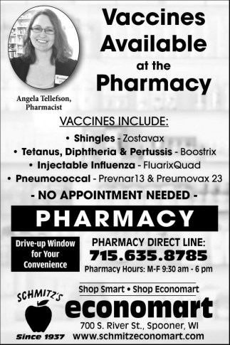 Vaccines Available at the Pharmacy