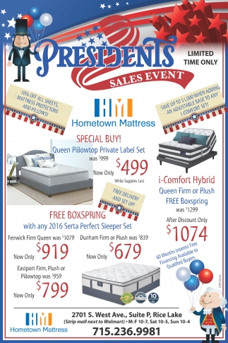 Presidents Sales Event
