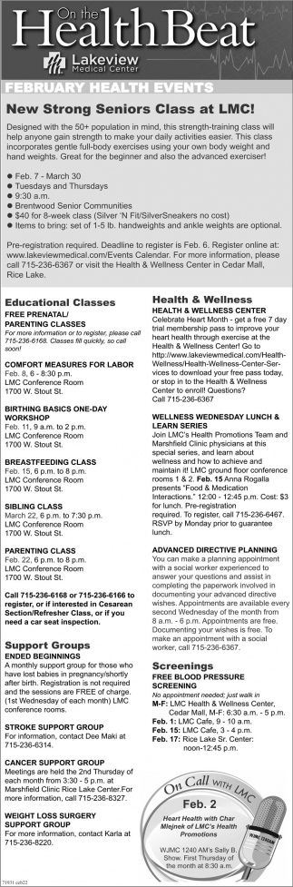 February Health Events