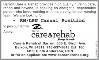 RN/LPN Casual Position