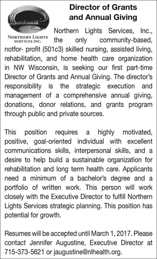 Director of Grants and Annual Giving