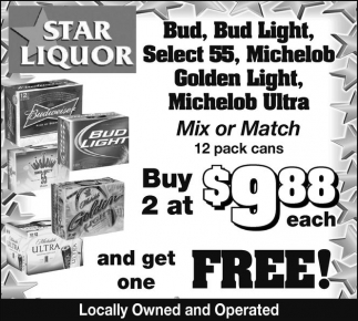 Mix or Match 12 pack cans Buy 2 at $9.88 each and get one FREE!