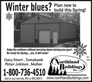 Plan now to build this Spring!
