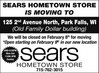 Sears Hometown Store is moving to 125 2nd Ave North