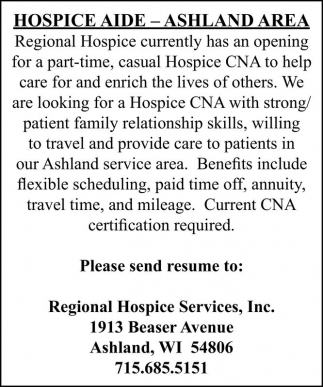 HOSPICE AIDE