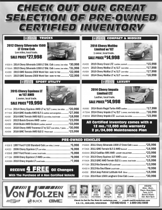 Selection of Pre-Owned Certified Inventory