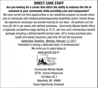 DIRECT CARE STAFF