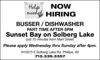 Busser / Dishwasher