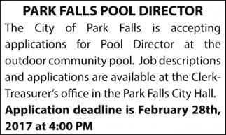 Park Falls Pool Director