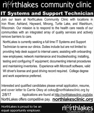 IT Systems and Support Technician