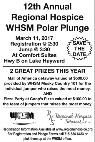 12th Annual Hospice WHSM Polar Plunge