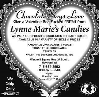 Chocolate Says Love