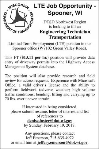 LTE Job Opportunity