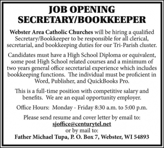 Secretary / Bookkeeper