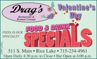Valentine S Day Food Drink Specials Drag S Restaurant And Roman