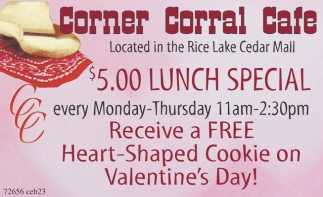 Valentine S Day Corner Corral Cafe