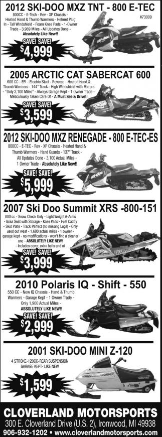SkiDoo, Arctic Cat, Polaris
