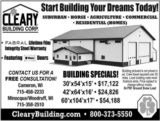 Start Building Your Dreams Today!