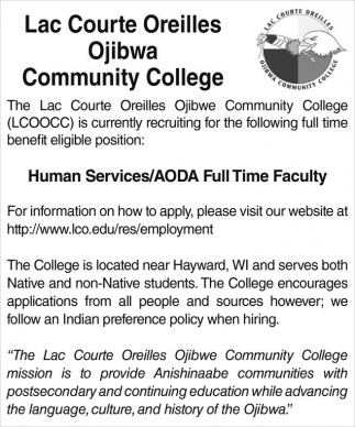 Human Services / AODA Full Time Faculty