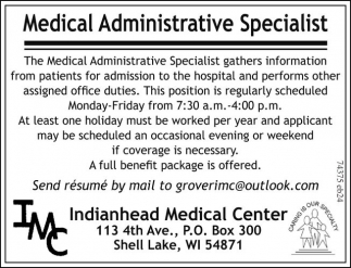Medical Administrative Specialist