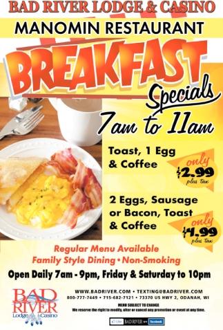 Breakfast Specials