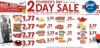 Founder's Day 2 Day Sale