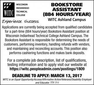 Bookstore Assistant (884 Hours/Year)