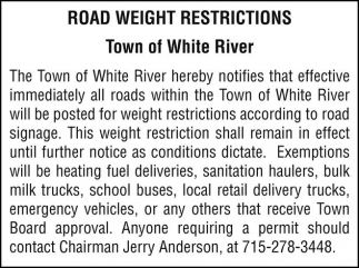 Road Weight Restrictions