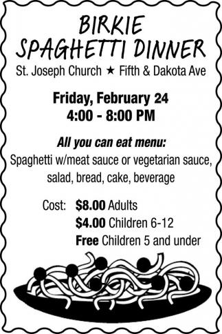 Birkie Spaghetti Dinner
