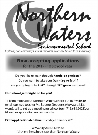 Now accepting applications for the 2017 - 18 school year!