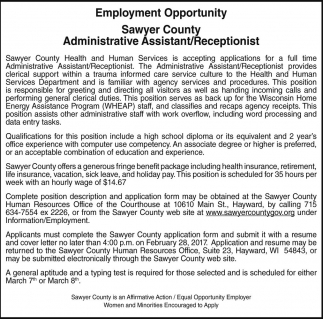 Administrative Assistant / Receptionist