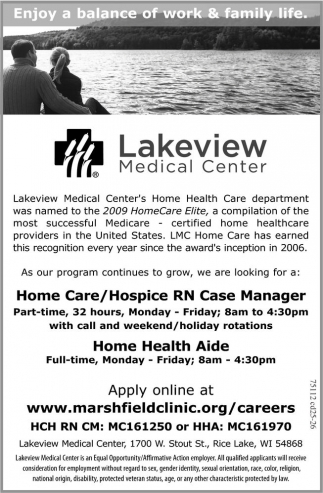 Home Care / Hospice RN Case Manager / Home Health Aide