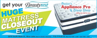Huge Mattress Closeout Event