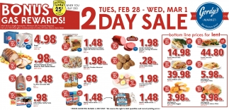 2 Day Sale