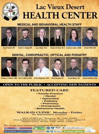 Open to the Public - Accepting New Patients