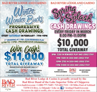 Winter Wonder Bucks Progressive Cash Drawings