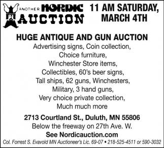 Huge Antique and Gun Auction