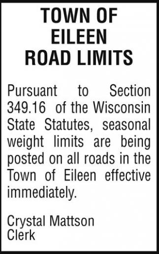 Road Limits