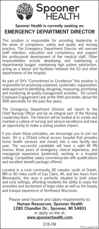 Emergency Department Director