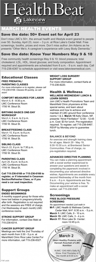 March Health Events