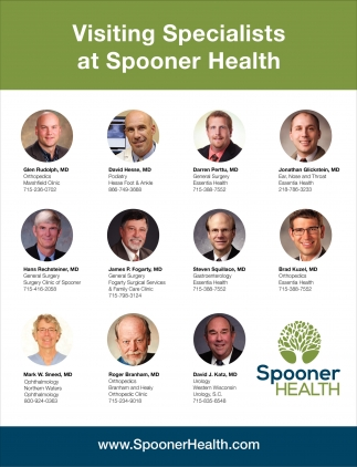 Visiting Specialists at Spooner Health