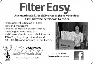 Automatic air filter deliveries right to your door