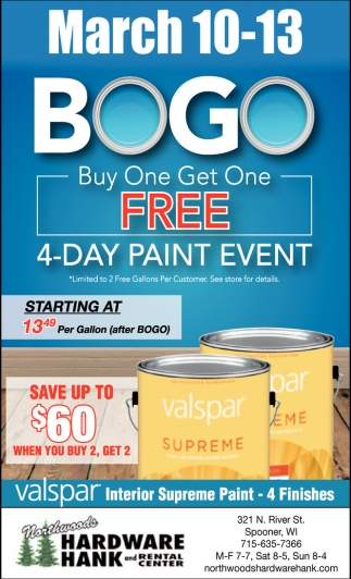BOGO Buy One Get One FREE