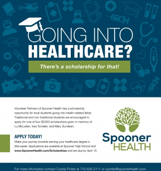 Volunteer Partners of Spooner Health has a scholarship opportunity for local students