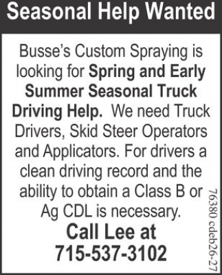 Spring and Early Summer Seasonal Truck Driving Help