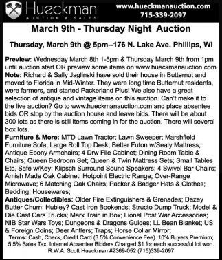 March 9th - Thursday Night Auction