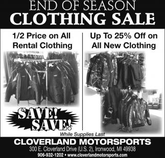 End Of Season Clothing Sale