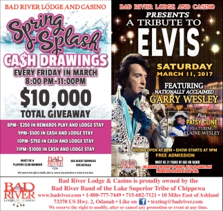 Spring Splash Cash Drawings $10,000 Total Giveaway
