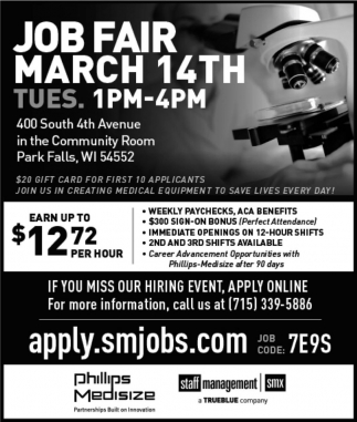 Job Fair March 14th