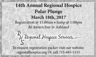 14th Annual Regional Hospice Polar Plunge